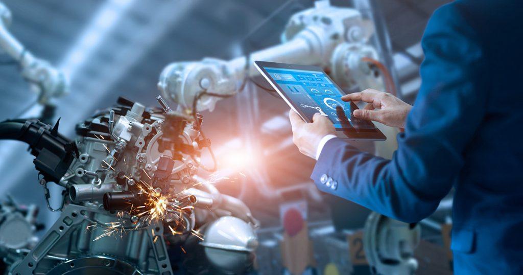 Action bourse robotique - investir dans la robotique - illustration production