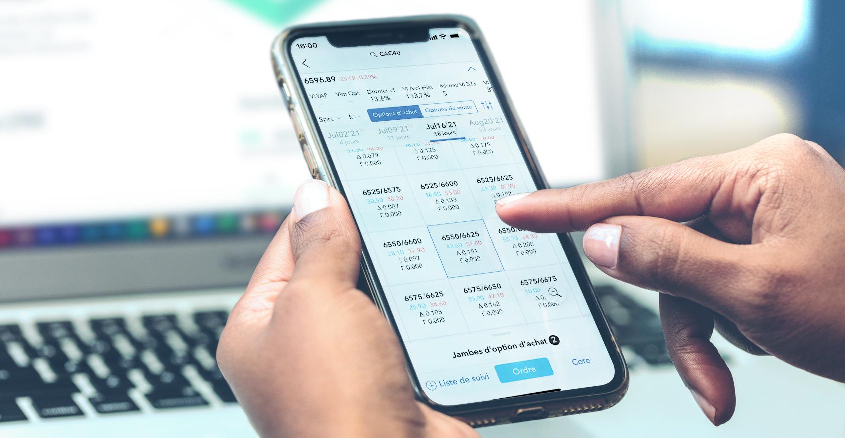 Appli mobile - Tradez via votre iPhone ou Android